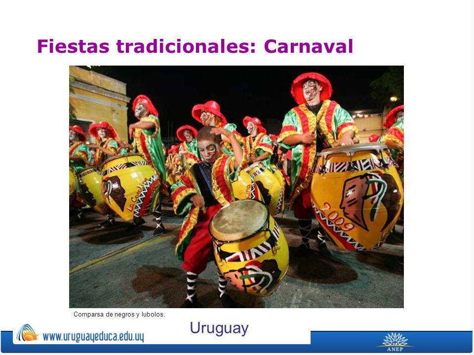 Fiestas tradicionales: Carnaval Comparsa de negros y lubolos. Uruguay