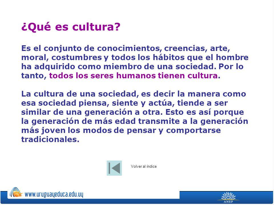 ¿Qué es cultura? Es el conjunto de conocimientos, creencias, arte, moral, costumbres y todos los hábitos que el hombre ha adquirido como miembro de un