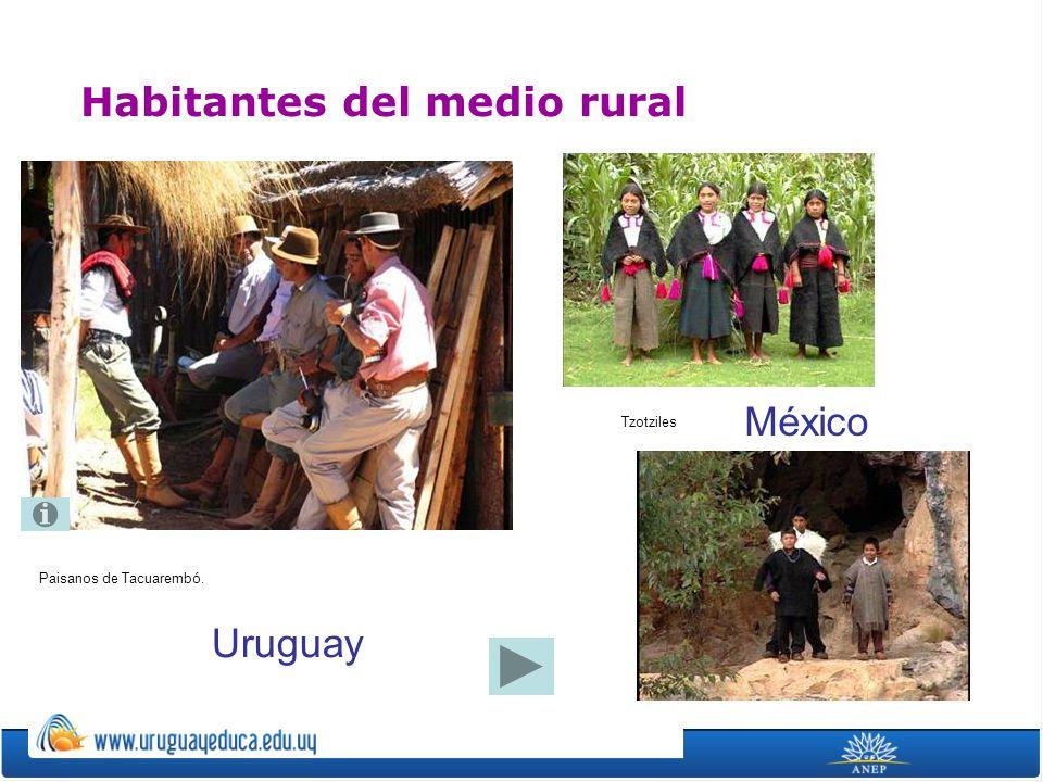 Paisanos de Tacuarembó. Habitantes del medio rural Uruguay México Tzotziles