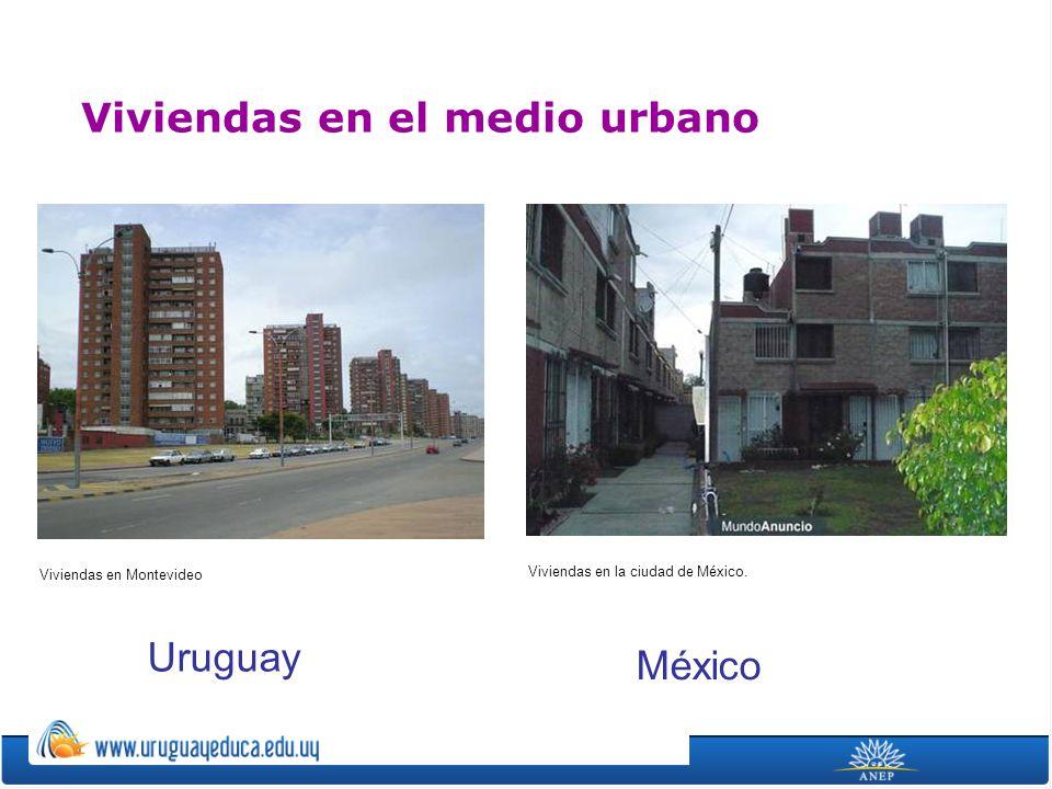 Viviendas en la ciudad de México. Viviendas en el medio urbano Viviendas en Montevideo Uruguay México