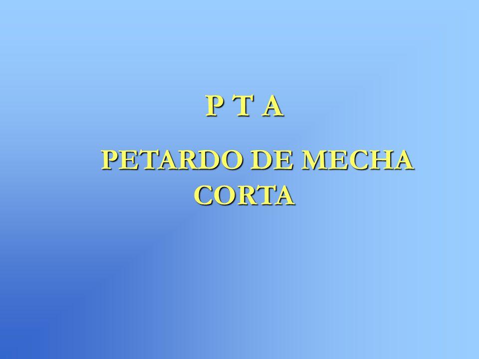 P T A PETARDO DE MECHA CORTA PETARDO DE MECHA CORTA