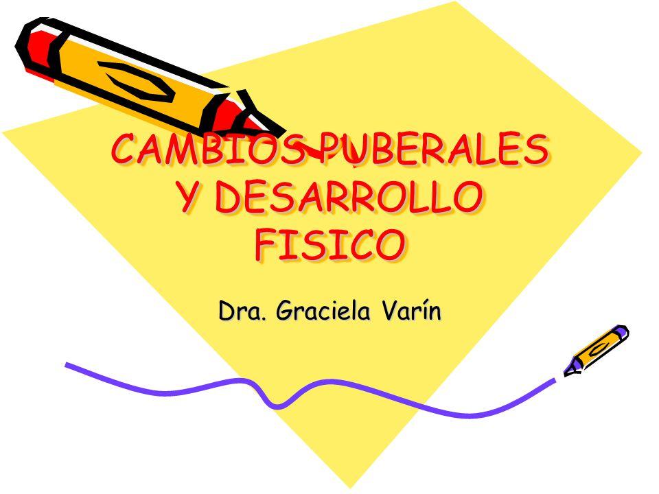 CAMBIOS PUBERALES Y DESARROLLO FISICO Dra. Graciela Varín