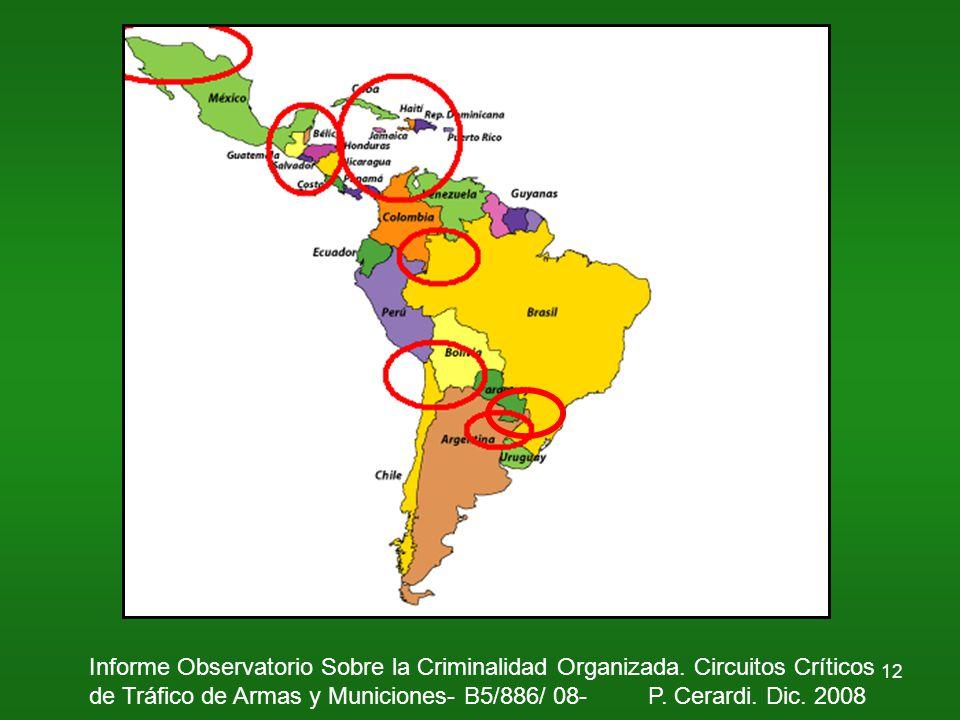 12 Informe Observatorio Sobre la Criminalidad Organizada.
