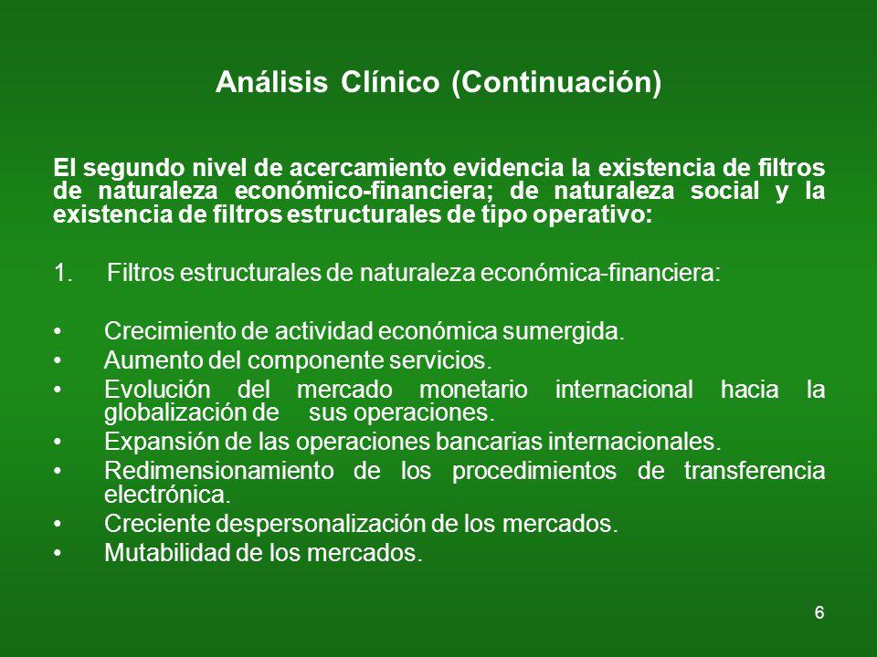 7 Análisis Clínico (Continuación..) 2.Filtros estructurales de naturaleza social: Principio de la Comunidad o Referente Comunitario.