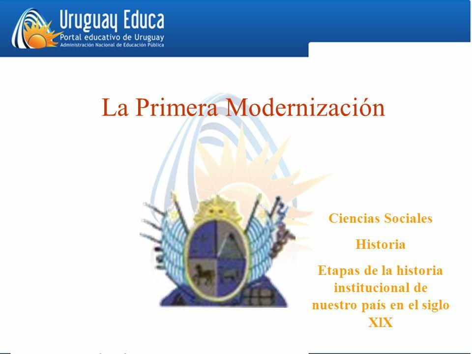 La primera modernización La modernización del país abarcó la acción del gobierno y todas las relaciones políticas, las formas de convivencia social y la organización de las actividades productivas.