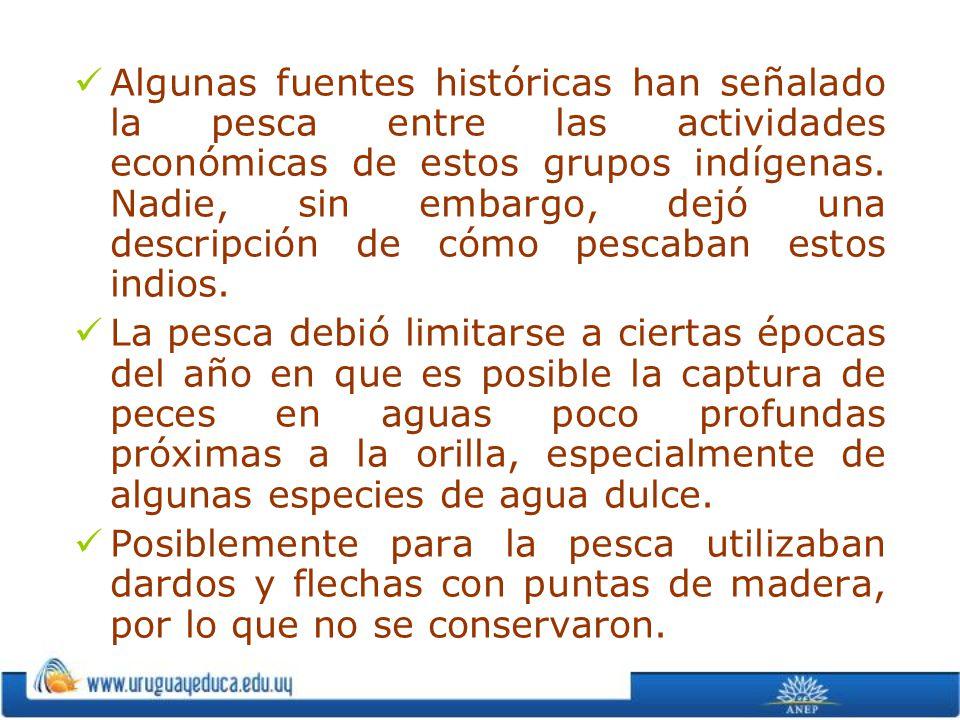 Algunas fuentes históricas han señalado la pesca entre las actividades económicas de estos grupos indígenas. Nadie, sin embargo, dejó una descripción