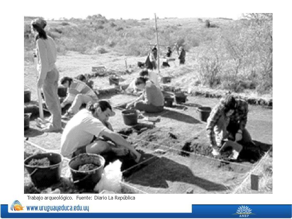 Trabajo arqueológico. Fuente: Diario La República.