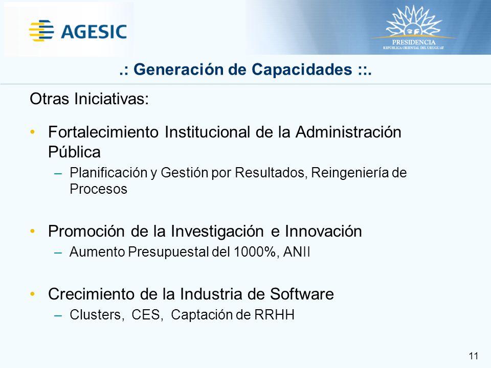 11.: Generación de Capacidades ::.