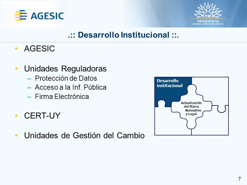 8 REDuy Plataforma de eGobierno PKI Uruguay Expediente Electrónico y trazabilidad de trámites para todo el Estado Nuevas Versiones del Portal del Estado, Portal de Trámites y Gateway de Pagos.: Desarrollo de Infraestructura ::.
