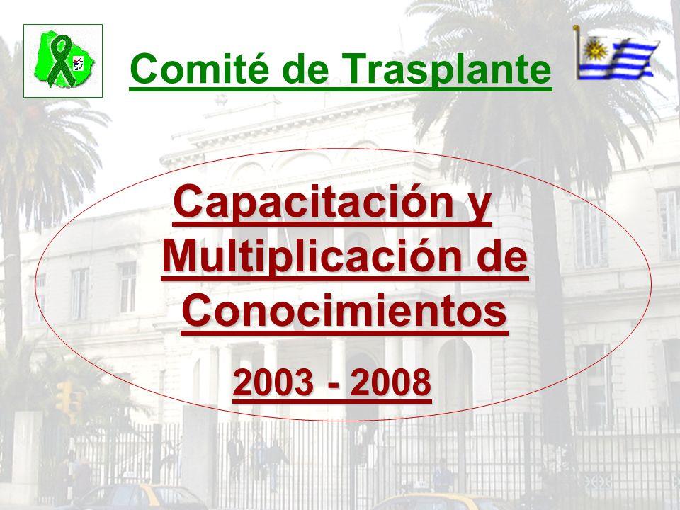 Comité de Trasplante Capacitación y Multiplicación de Conocimientos 2003 - 2008