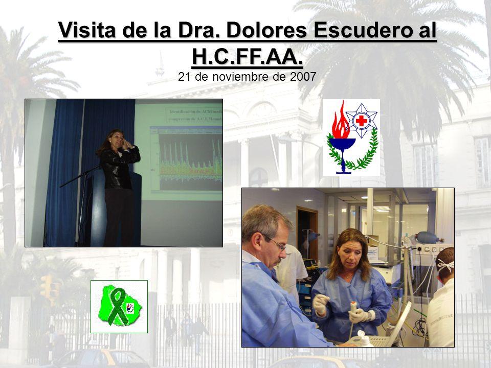 Visita de la Dra. Dolores Escudero al H.C.FF.AA. 21 de noviembre de 2007