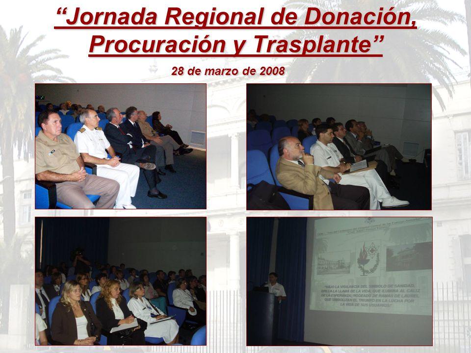 Jornada Regional de Donación, Procuración y Trasplante 28 de marzo de 2008