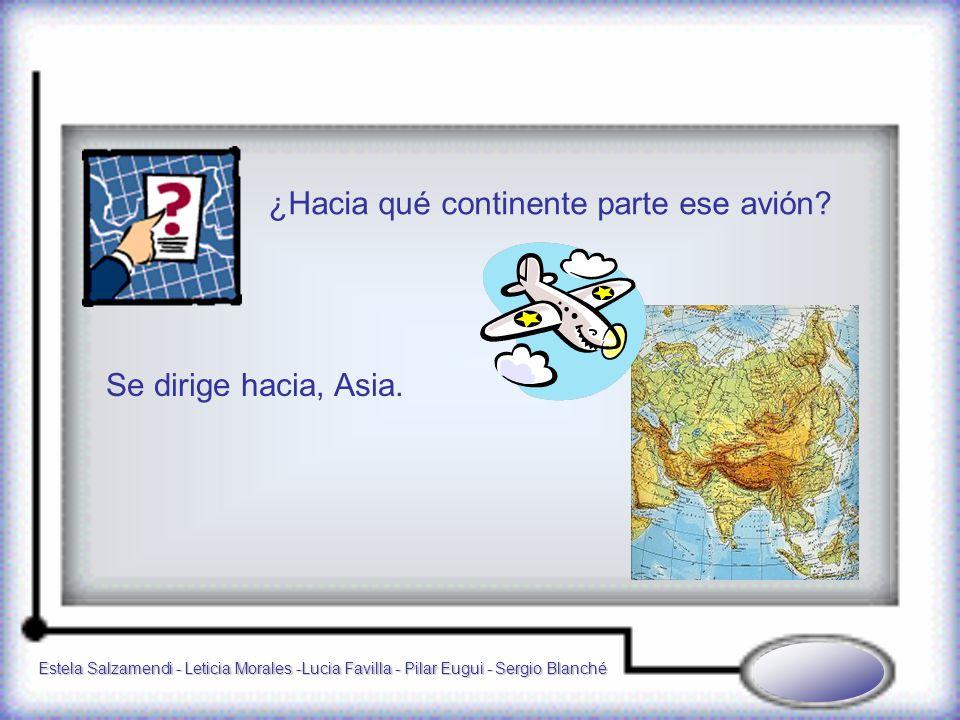 Estela Salzamendi - Leticia Morales -Lucia Favilla - Pilar Eugui - Sergio Blanché ¿Hacia qué continente parte ese avión.