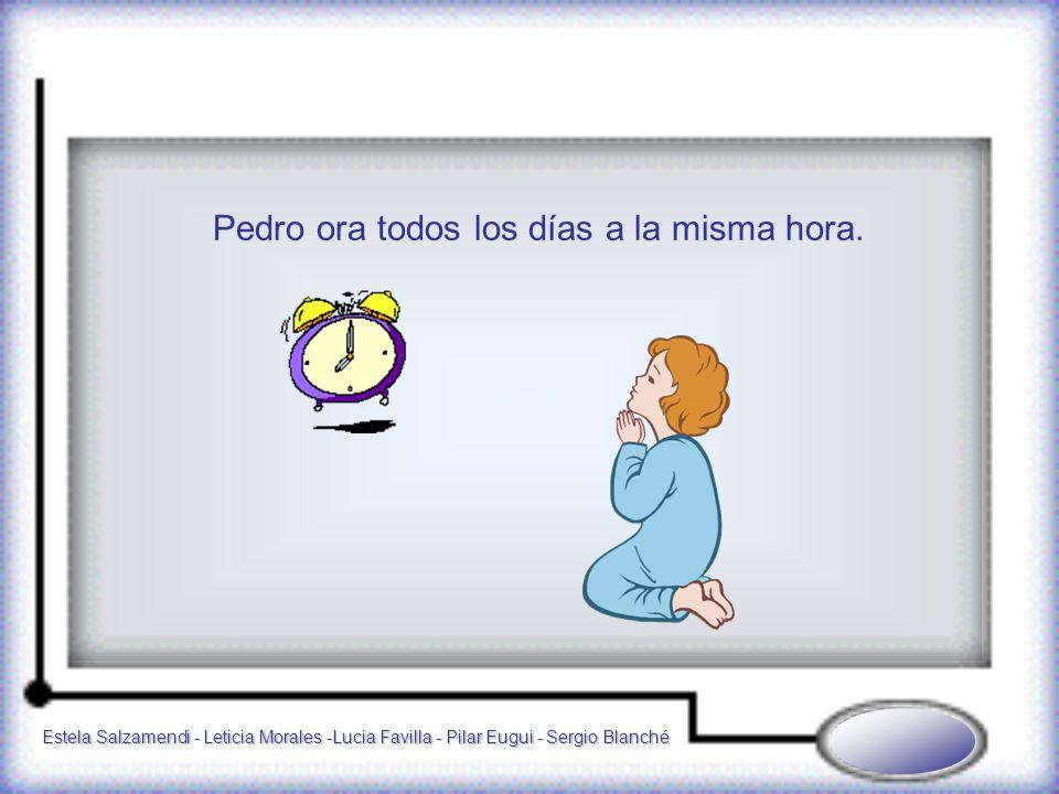 Estela Salzamendi - Leticia Morales -Lucia Favilla - Pilar Eugui - Sergio Blanché Pedro ora todos los días a la misma hora.