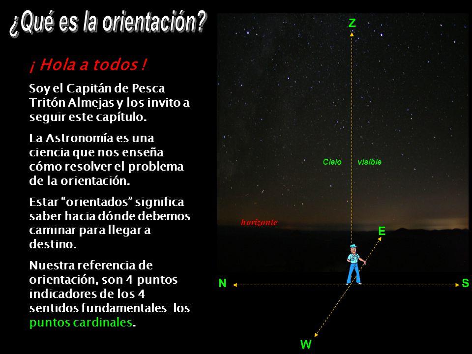 S N E W El ecuador quedaría materializado en el cielo, si la estrella Mintaka (una de las 3 Marías) dejara su rastro durante las 24 horas de su movimiento diario.