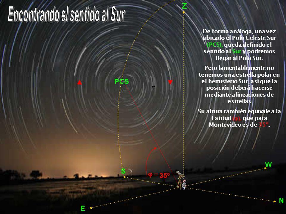 Pero ¿cómo es eso que la altura (h) del polo celeste nos da la latitud ) La explicación es simple: todo se reduce a una demostración geométrica que puedes ver en el siguiente esquema: Siendo QZ = el arco Z PCS = 90º – por ser el eje del mundo (O PCS) perpendicular al ecuador (OQ).