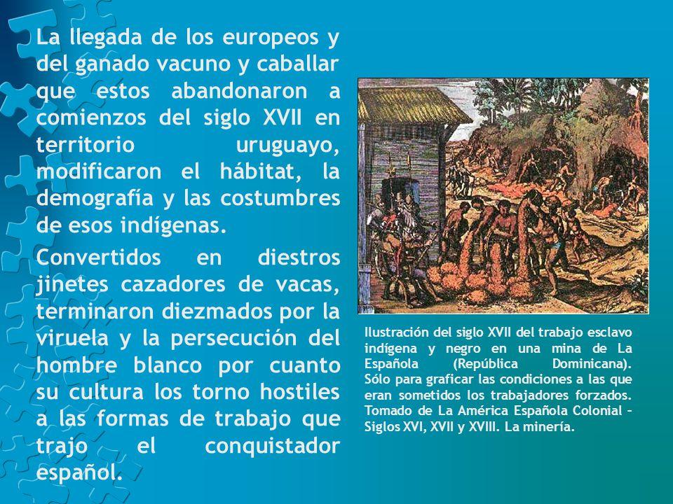 El llamado exterminio de los indígenas en Salsipuedes (1831) fundó el mito del Uruguay europeo y blanco que las clases dirigentes del país siempre alimentaron, tanto más cuanto la inmigración transcontinental fue, en efecto, la base del crecimiento demográfico uruguayo.