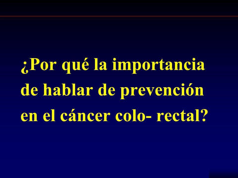 NCCH ¿Por qué la importancia de hablar de prevención en el cáncer colo- rectal?