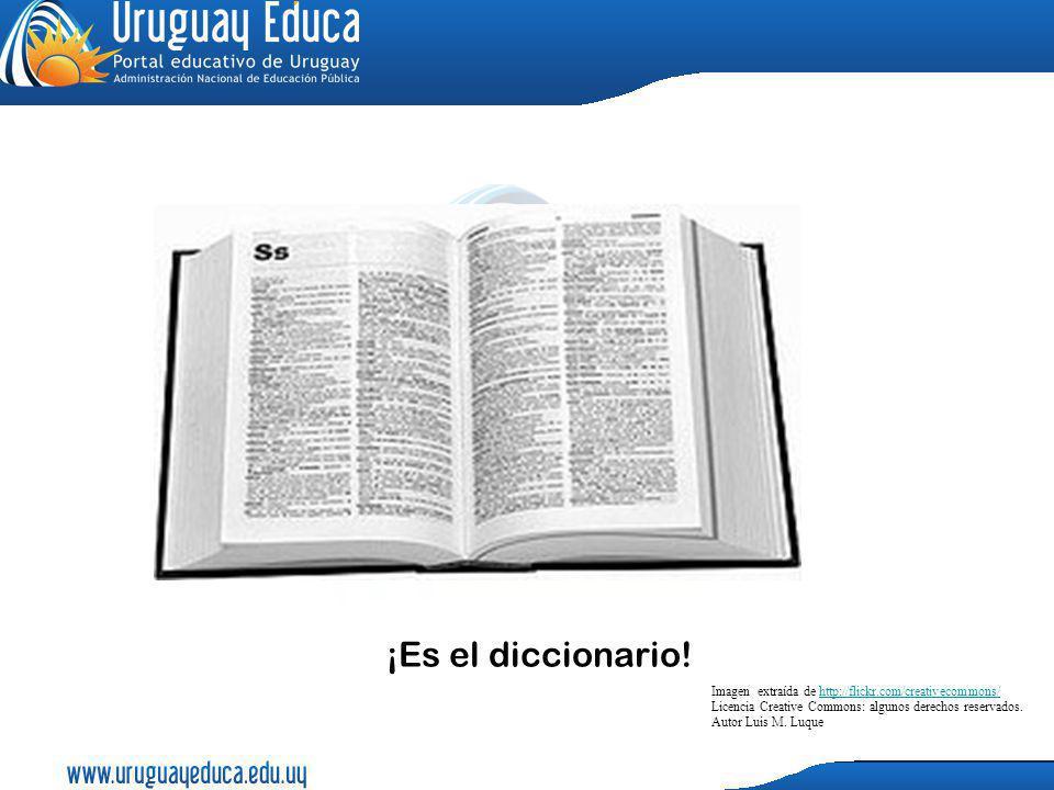 ¡Es el diccionario! Imagen extraída de http://flickr.com/creativecommons/ Licencia Creative Commons: algunos derechos reservados. Autor Luis M. Luqueh
