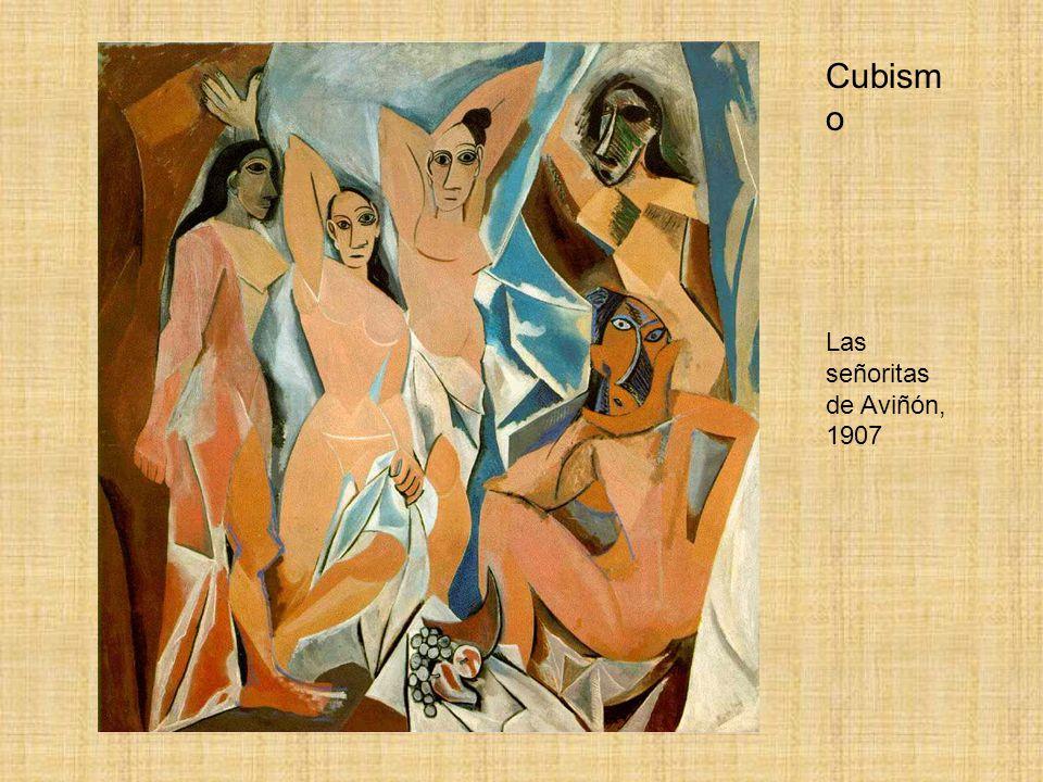 Cubism o Las señoritas de Aviñón, 1907