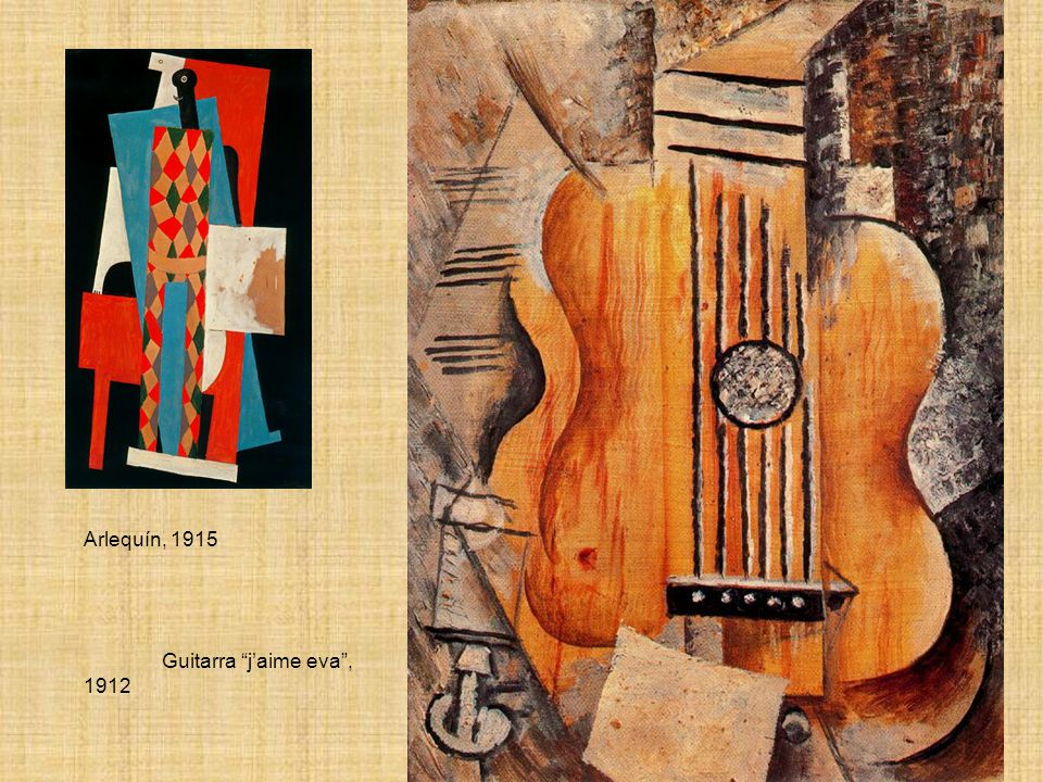 Arlequín, 1915 Guitarra jaime eva, 1912