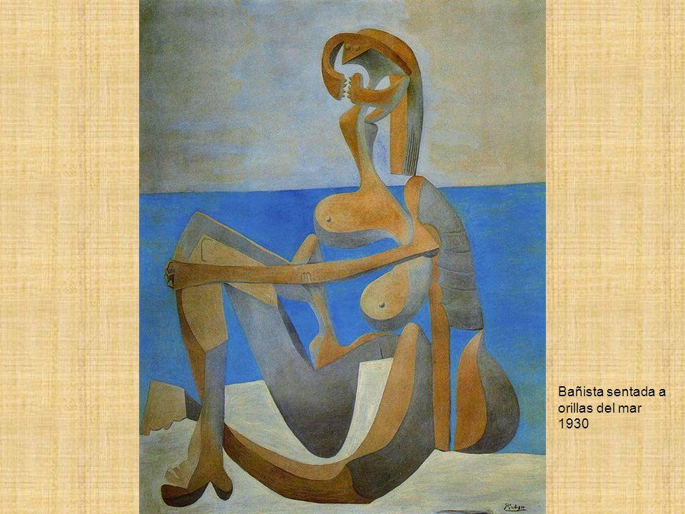 Bañista sentada a orillas del mar 1930