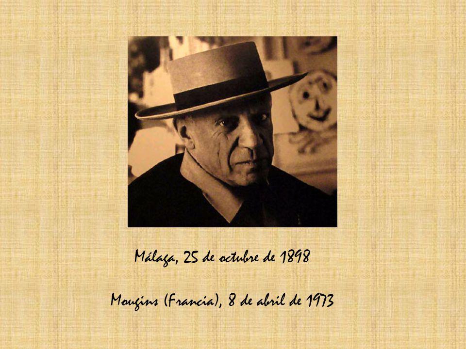 Málaga, 25 de octubre de 1898 Mougins (Francia), 8 de abril de 1973