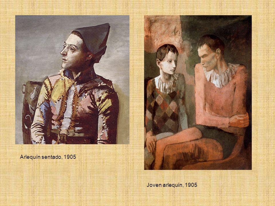 Arlequín sentado, 1905 Joven arlequín, 1905