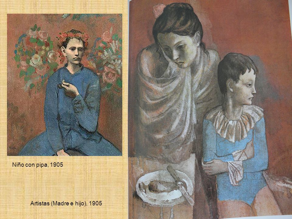 Artistas (Madre e hijo), 1905 Niño con pipa, 1905