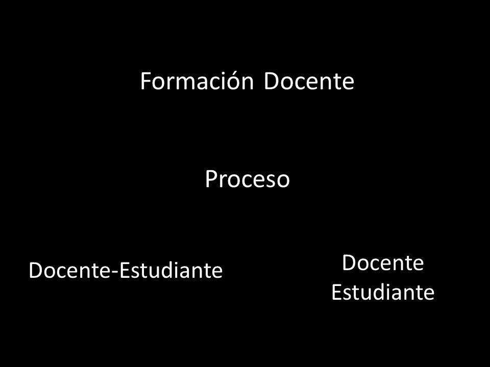 Formación Docente Proceso Docente-Estudiante Docente Estudiante