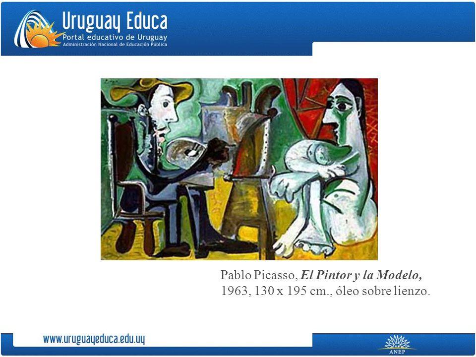 Pablo Picasso, El Pintor y la Modelo, 1963, 130 x 195 cm., óleo sobre lienzo.
