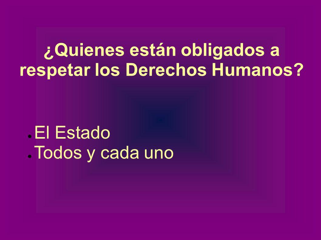 ¿Cuáles son las características de los Derechos Humanos.