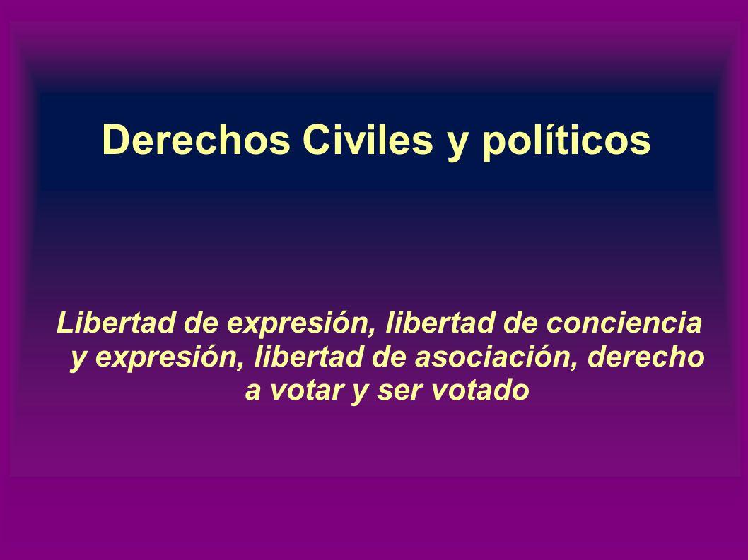 Según su naturaleza Derechos civiles y políticos Derechos económicos, sociales y culturales Derechos de solidaridad o derechos de los pueblos