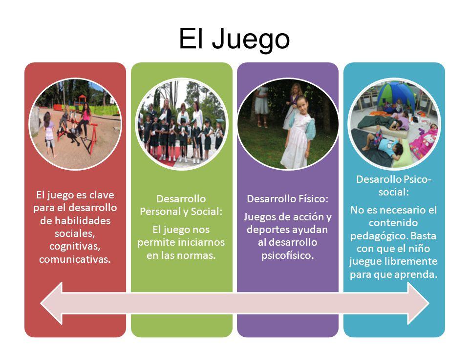 El Juego El juego es clave para el desarrollo de habilidades sociales, cognitivas, comunicativas.
