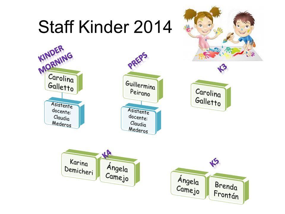 Staff Kinder 2014