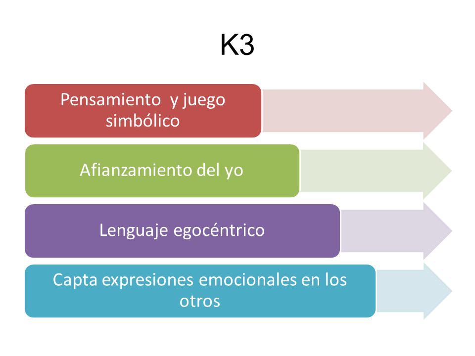 K4 y K5 Gran fantasía e imaginación Manifiestan deseo de conocer mejor su propio cuerpo.