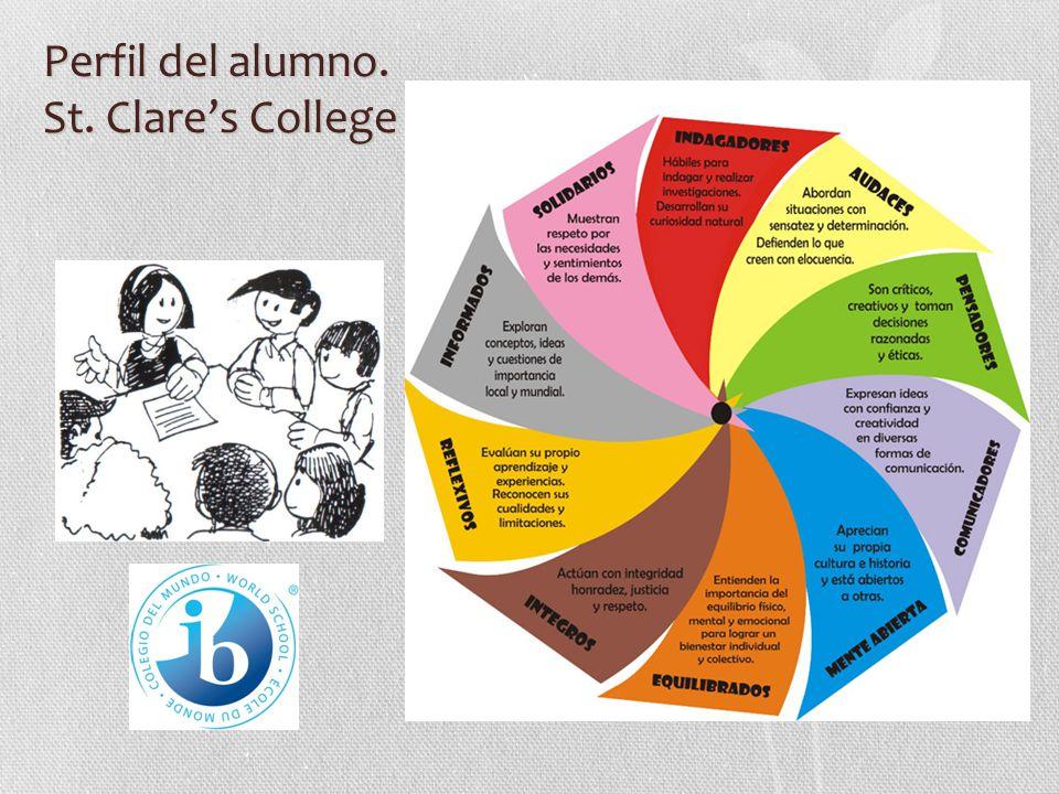 Perfil del alumno. St. Clares College