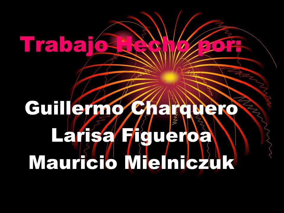 Trabajo Hecho por: Guillermo Charquero Larisa Figueroa Mauricio Mielniczuk