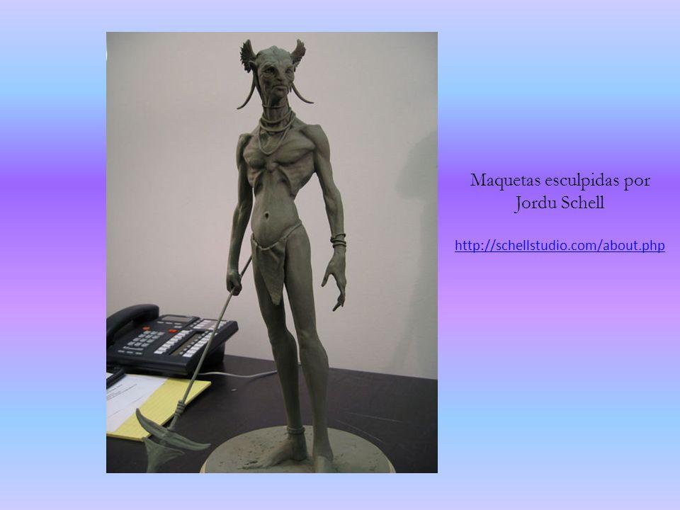Maquetas esculpidas por Jordu Schell http://schellstudio.com/about.php