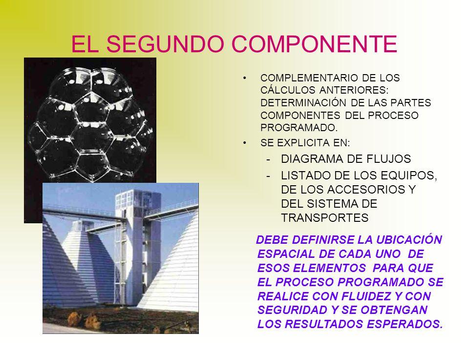 EL SEGUNDO COMPONENTE COMPLEMENTARIO DE LOS CÁLCULOS ANTERIORES: DETERMINACIÓN DE LAS PARTES COMPONENTES DEL PROCESO PROGRAMADO.