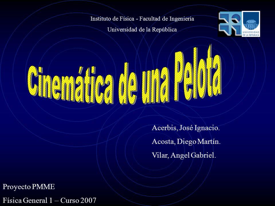 Proyecto PMME Física General 1 – Curso 2007 Acerbis, José Ignacio. Acosta, Diego Martín. Vilar, Angel Gabriel. Instituto de Física - Facultad de Ingen
