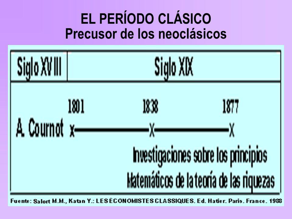 EL PERÍODO CLÁSICO Precusor de los neoclásicos