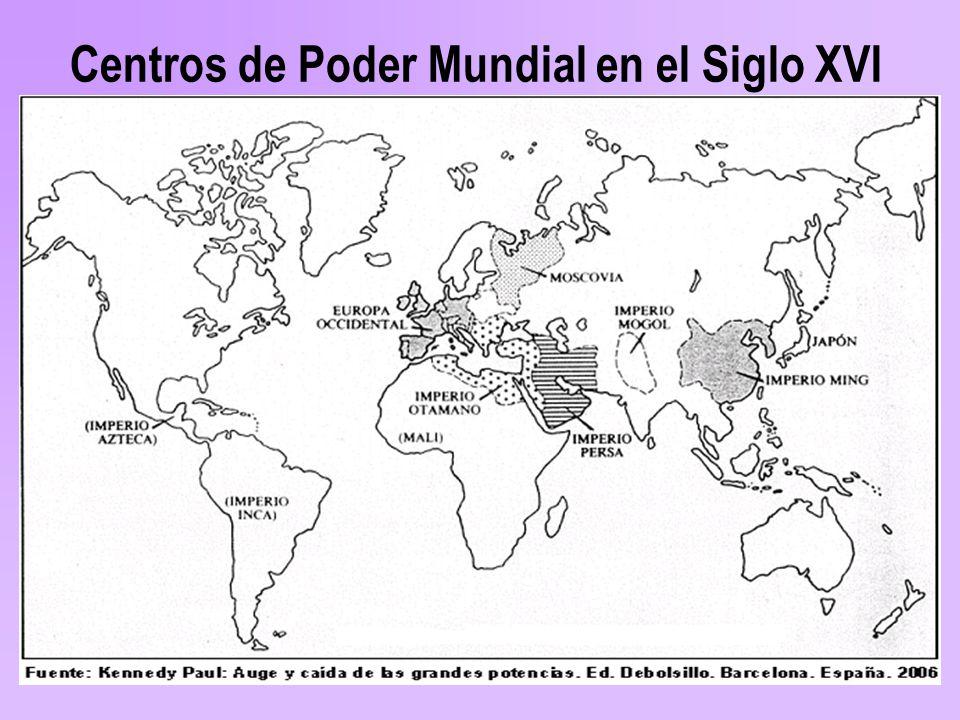 Centros de Poder Mundial en el Siglo XVI