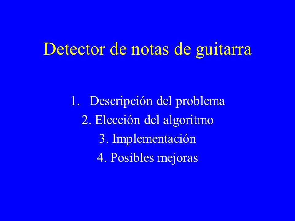 Detector de notas de guitarra 1.Descripción del problema 2.