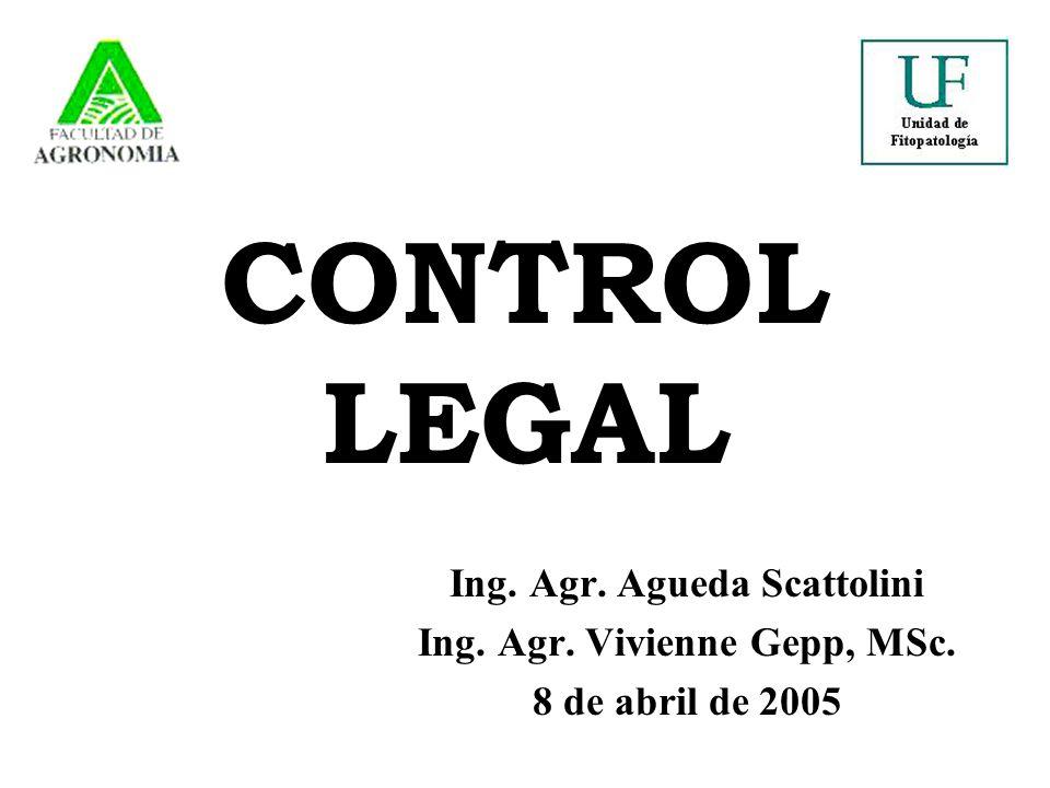 CONTROL LEGAL Ing. Agr. Agueda Scattolini Ing. Agr. Vivienne Gepp, MSc. 8 de abril de 2005