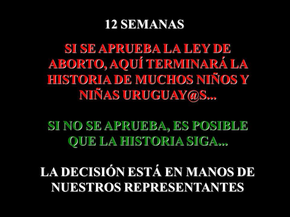 SI SE APRUEBA LA LEY DE ABORTO, AQUÍ TERMINARÁ LA HISTORIA DE MUCHOS NIÑOS Y NIÑAS URUGUAY@S... SI NO SE APRUEBA, ES POSIBLE QUE LA HISTORIA SIGA... L