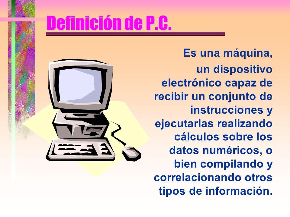 Definición de P.C.