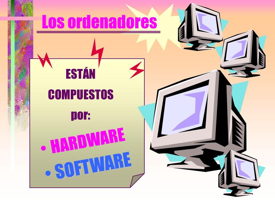 Los ordenadores ESTÁN COMPUESTOS por: HARDWARE SOFTWARESOFTWARE