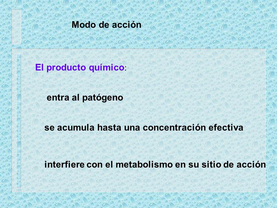 Efectos deseables de la aplicación prevenir la infección matar al patógeno dentro de la planta evitar la aparición de síntomas inhibir el desarrollo d