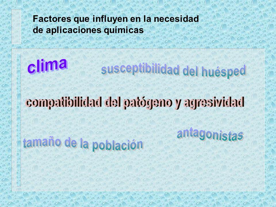 Importancia del uso de productos químicos bactericidas fungicidas insecticidas nematicidas biocidas Relación costo / beneficio Fungicidas: 18% Insecti